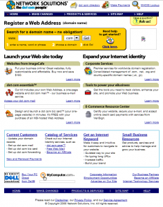 Old Network Solutions Site