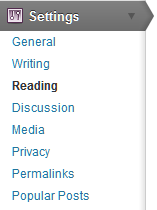 WordPress Settings Read