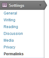 Settings | Permalinks in WordPress