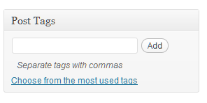 Tagging Posts in WordPress