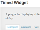 Timed Widget Plugin